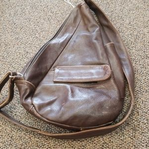 Brown Leather Shoulder/Backpack